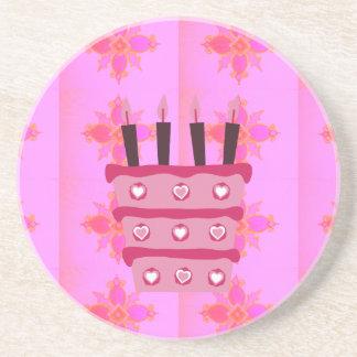 Happy Birthday Sandstone Coaster