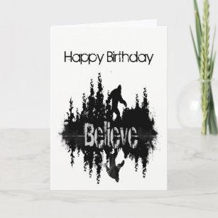 Happy Birthday Sasquatch Big Foot Lake Reflection Card