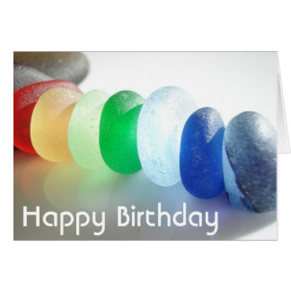 Happy Birthday - Say it with Sea Glass Card