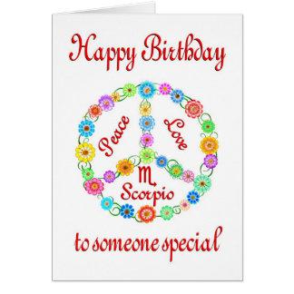 Happy Birthday Scorpio Cards