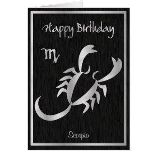 Happy Birthday Scorpio Horoscope Elegant Card