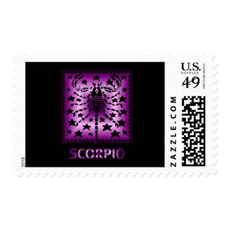 Happy Birthday Scorpio starsign Stamp