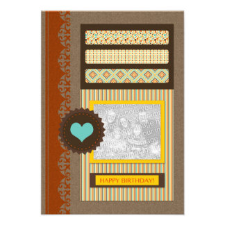 happy birthday (scrapbook) card
