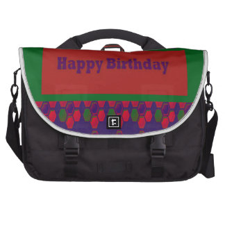 HAPPY Birthday Script Greeting Celebration Event 9 Commuter Bag