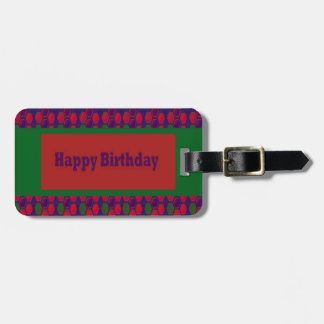 HAPPY Birthday Script Greeting Celebration Event 9 Tags For Luggage