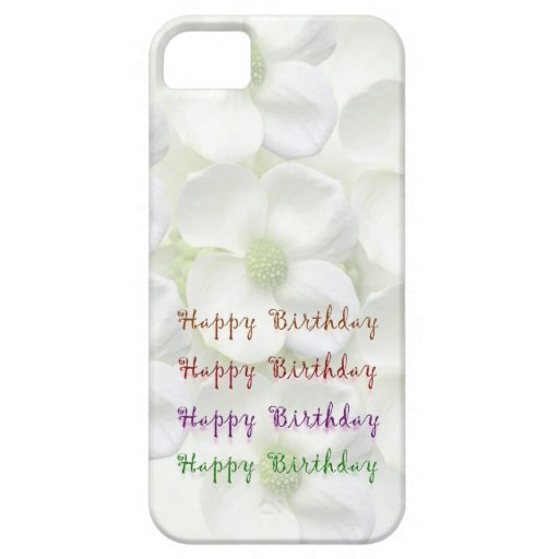Happy Birthday Script : On Lilly Flower Base iPhone 5 Cover