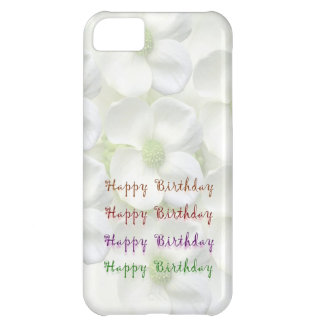 Happy Birthday Script : On Lilly Flower Base Case For iPhone 5C