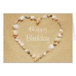 Happy Birthday Seashell Heart Card