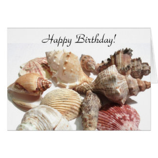 Happy Birthday Seashells Greeting card