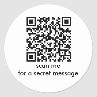 Happy Birthday: Secret Message Bar Code Stickers