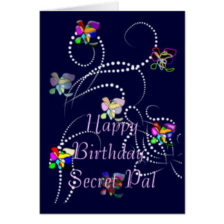happy birthday secret pal greeting card