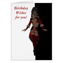 Happy birthday Sensual African American woman Card