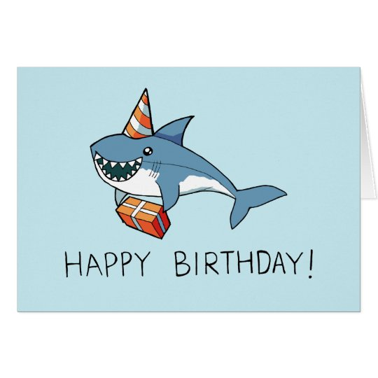 Happy birthday shark card zazzle happy birthday shark card bookmarktalkfo Gallery