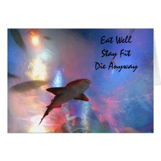 Happy birthday shark humour card