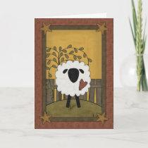 Happy Birthday Sheep Card