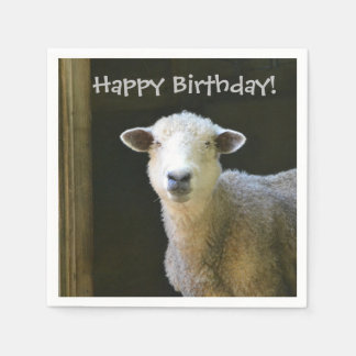 Happy Birthday Sheep Napkin
