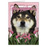 Happy Birthday - Shiba Inus - Yasha Cards