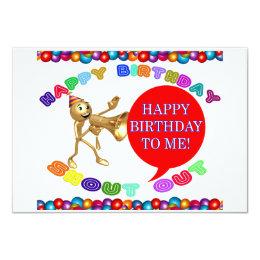 Happy Birthday Shoutout Happy Birthday To Me! Card