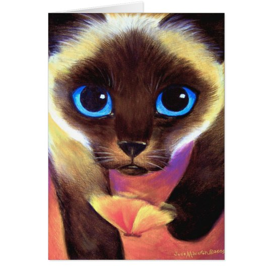 Happy Birthday Siamese Cat, Christmas Cards, Etc. Card