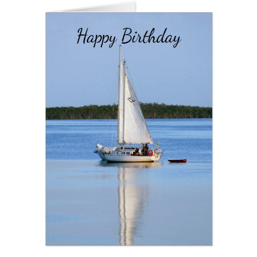 Happy Birthday Side by Side Sailboats Card