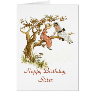 Happy Birthday Sister Greeting Card