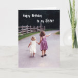 """Happy Birthday Sister Card<br><div class=""""desc"""">Sister's are friends forever!</div>"""