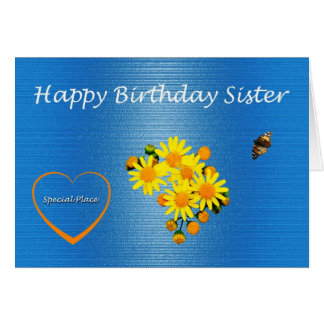 Happy Birthday Sister Daisy Card