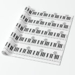 Happy Birthday, Sister, piano keys, gift wrap. Wrapping Paper