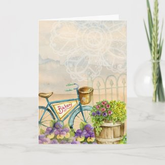 Happy Birthday Sister Watercolor Memories Card