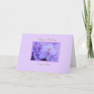 Happy Birthday Sister with Purple Hydrangeas Card
