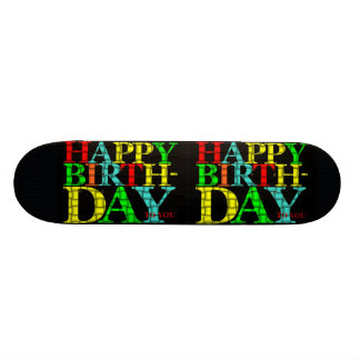 Happy Birthday Skateboard