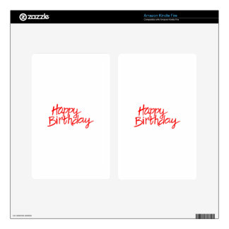 Happy Birthday Skin For Kindle Fire