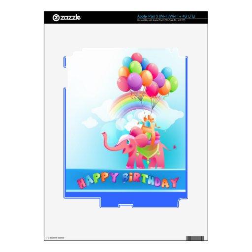 Happy birthday skin iPad 3 skins