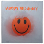 Happy Birthday-Smiley Face in Snow Napkins