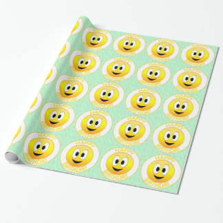 Happy Birthday Smiley Wrapping Paper