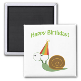 Happy Birthday! Snail Fridge Magnets