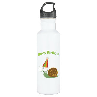 Happy Birthday! Snail Water Bottle