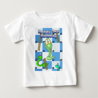 Happy Birthday snakes and ladders game Baby T-Shirt