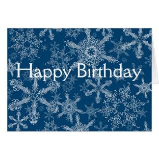 Happy Birthday snowflakes Greeting Card