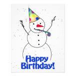 Happy Birthday  Snowman Announcements