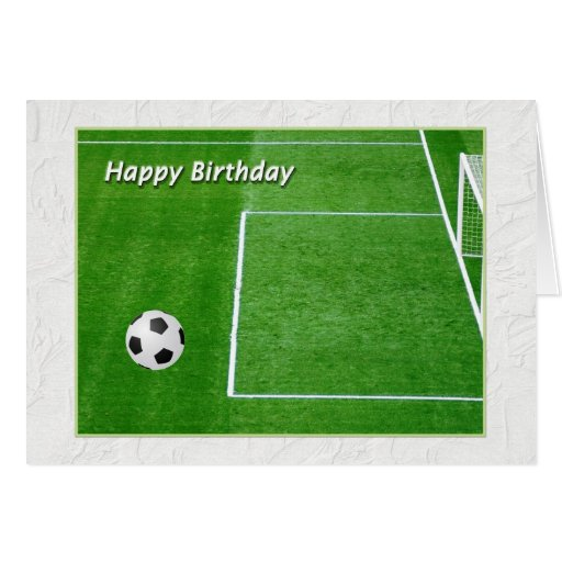 Happy Birthday Soccer Player Greeting Card