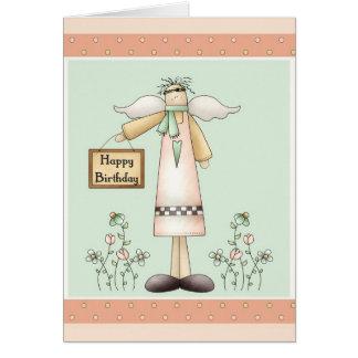 Happy Birthday Soft Prim Angel Greeting Card