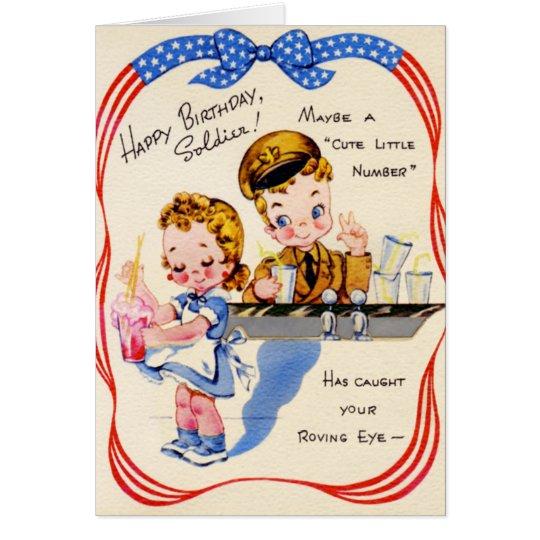 Happy birthday soldier vintage card zazzle happy birthday soldier vintage card bookmarktalkfo Image collections