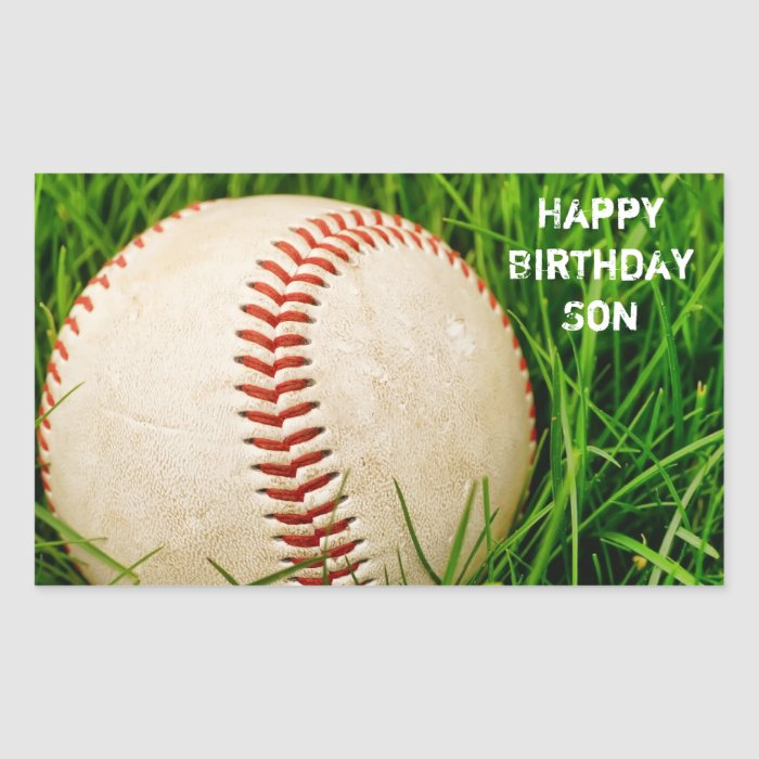Happy Birthday Son Baseball Sticker