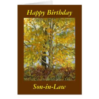 """Happy Birthday Son-in-Law"" Card"