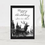"""Happy Birthday Son-in-Law Vintage Stag, Deer Card<br><div class=""""desc"""">Happy Birthday Son-in-Law  Vintage Stag,  Deer Animal,  Wildlife,  Nature</div>"""