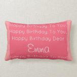 Happy Birthday Song Pillow