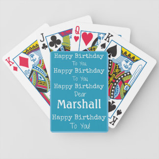 happy Birthday Song Playing Cards