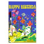 Happy Birthday Special Dry Erase White Board