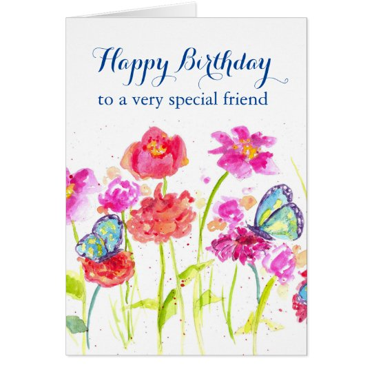 Happy birthday special friend blue butterflies card zazzle happy birthday special friend blue butterflies card bookmarktalkfo Gallery